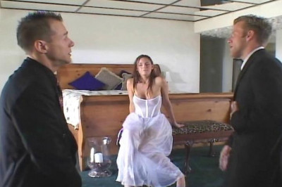 Horny bride hammered