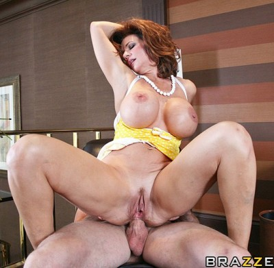 Busty Redhead Lady Goes To The One Guy's Nice Big House