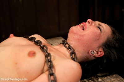 Pretty gets punished — double penetration and made to squirt into exhaustion