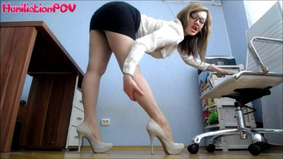 Humiliation POV - Miss Honey Barefeet Worship My Heels Or You're Fired
