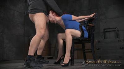 Redheaded sex siren Violet Monroe fucked on 10 inch BBC, epic bondage deepthroat!