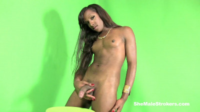 Yony Sexy Black Trans Girl Has A Big Meaty Pole For You (2014)