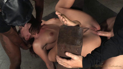 Sexy squirting Savannah Fox roughly fucked in strict bondage epic deepthroat (2015)