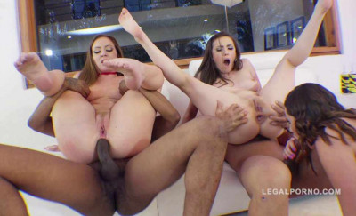 Gonzo anal orgy for hot babes
