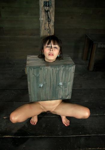 Cute innocent Japanese girl boxed!