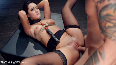 Petite Brunette Pussy Pounding in Hardcore Bondage