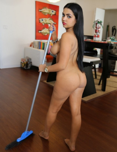 Ada Sanchez - Cute Maid Sucking Dick and Spreading Pussy (2015)