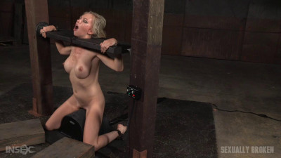 Eager Jeanie Marie blindfolded, bound on sybian facefucked messy destruction! (2015)
