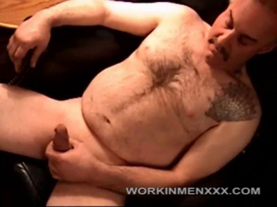 Hairy Bear Robert Jerks Off