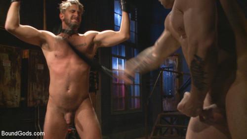 Gay BDSM Captured Stud Mummified Beaten, Fucked and Humiliated