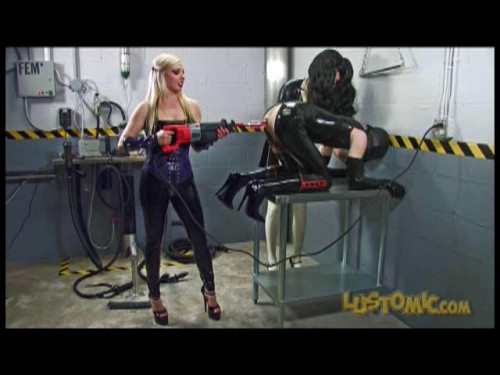Femdom and Strapon Sissy Rubber Sex Doll