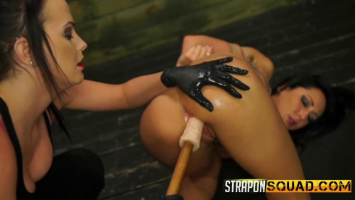 bdsm Straponsquad - Aug 12, 2016 - Sabrina Banks Endures Lesbian Domination and Rope Bondage