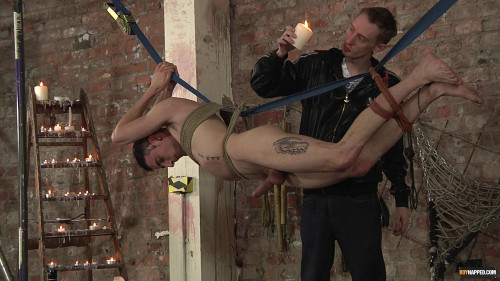 Gay BDSM Milking Out His Precum