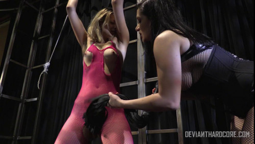 bdsm Skinny ballerina made to cum by mistress Lea Lexis