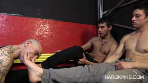 Gay BDSM Enslaved By Young Masters (Abel Bunker, Eloy Fox, Mario Luna)