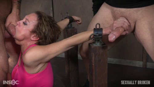 bdsm Dee Williams Bound For Face Fucking With Vibrator Wedged Between Her Legs