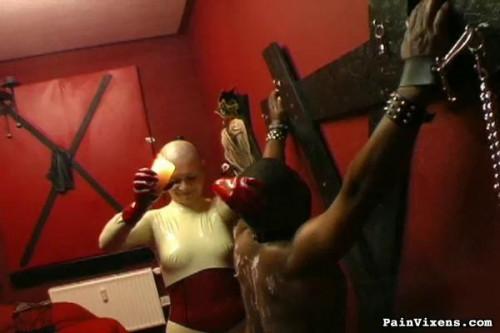 bdsm Painvixens - 19 May 2009 - Ebony Slave Bondage