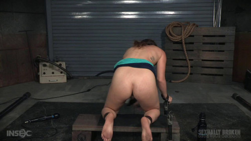 bdsm Compact cutie roughly fucked in piledriver postion