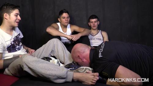 Gay BDSM Adrian Yuyu, Izann, Raul Male and Sergio Mutty