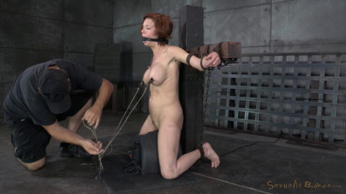 bdsm Stunning busty MILF Veronica Avluv does brutal drooling deepthroat while crucified on a sybain