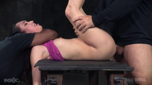 bdsm show with epic deepthroat and massive dicking down