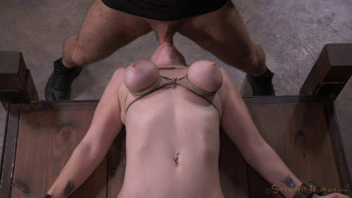bdsm Busty Bella Rossi Bound To A Bed Vibrated