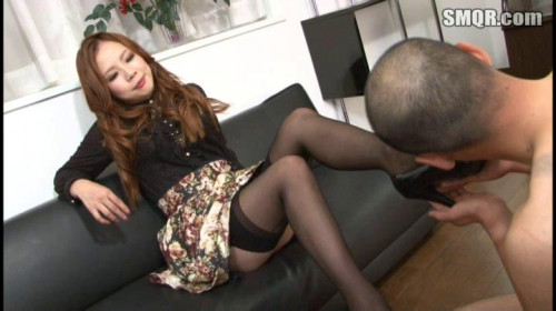 Femdom and Strapon Mistress of male anal sex part 1