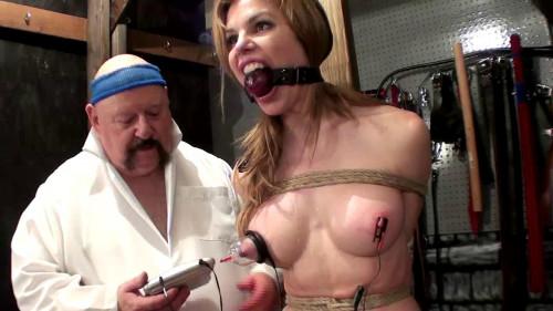 bdsm Electric Nipple Orgasm
