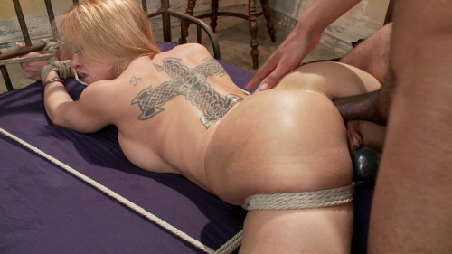 bdsm FB - 12-20-2013 - Blonde big tits, ass fucked in tight bondage