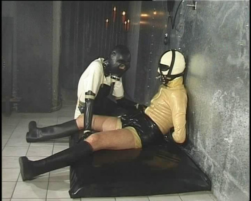 Femdom and Strapon Rubber Slaves