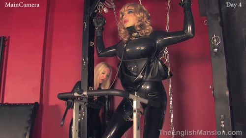 Femdom and Strapon The head grows out of the ground and licks my boots