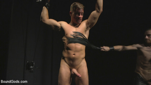 Gay BDSM Straight stud wants only bondage but hes made to take cock up his ass