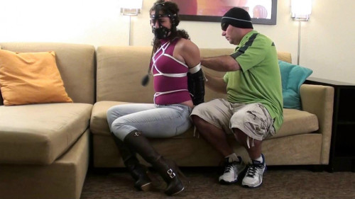 bdsm Sativa Verte Tied and Muzzled in Boots