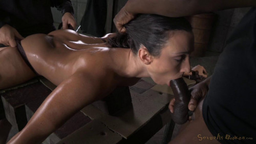 bdsm On the splits and fucked by two stud