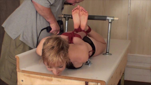 bdsm Little Blond Hogtie Orias