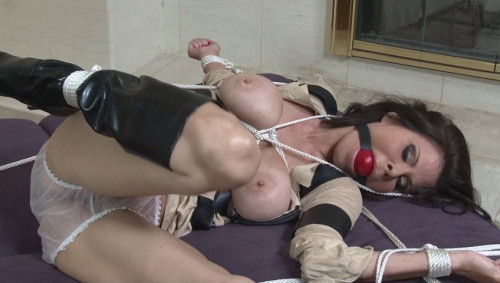 bdsm Bound and Gagged - Bound in Uniform - Ashley Renee the Ghost Hunter