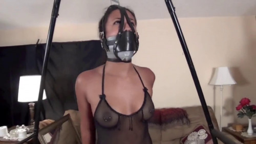 bdsm Super bondage and strappado for young latina girl