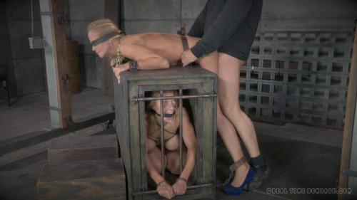 bdsm Cougar Simone Sonay blindfolded
