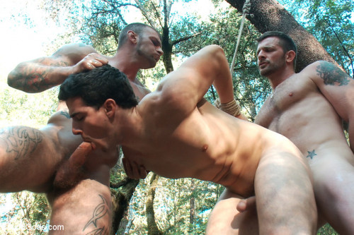 The Cabin Series #4 - Bound and Fucked in the Woods