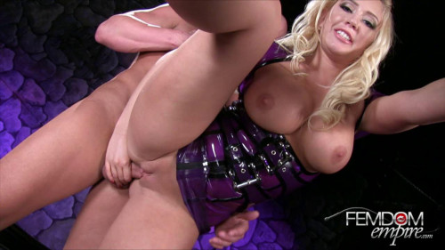 Femdom and Strapon Kagney Linn Karter - Caged And Cuckolded