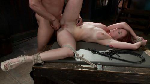 bdsm FB - 04-04-2014 - Newbie gets brutally fucked in tight bondage