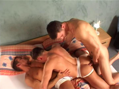 Group of horny guys
