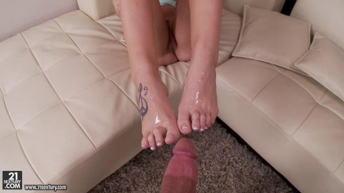 Femdom and Strapon Barefoot To The Bliss