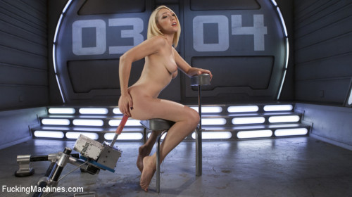 Sex Machines Hot Blond Lily LaBeau is Machine Fucked