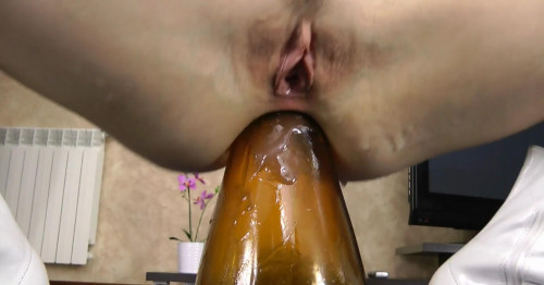 Fisting and Dildo Big Vase Anal Fuck