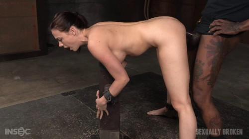 bdsm Shackled slut fucked hard by two big dicks
