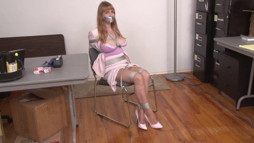 bdsm Bound and Gagged - Bondage at the Office Part 1 - Secretary Lorelei