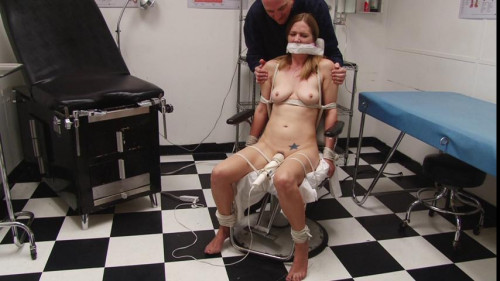 bdsm Bound and Gagged - Medical Clinic Vibrator Bondage for Miss Star Nine