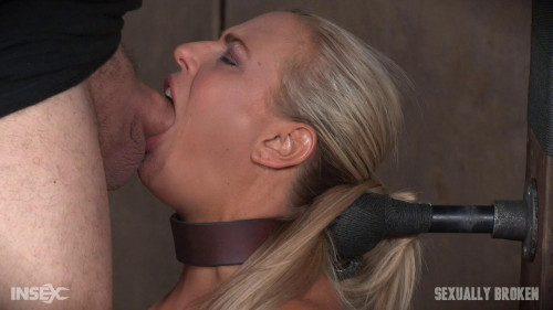 bdsm Angel and Dee Tied Back to Back And For Mouth and Anal Use and Have Massive Squirting Orgasms