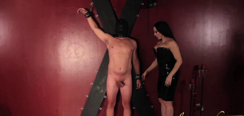 Femdom and Strapon Cock Whipping